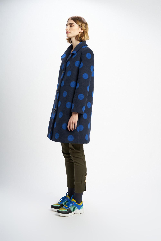 Poupée Chic | Abrigo lunares picas tweed bicolor Lateral