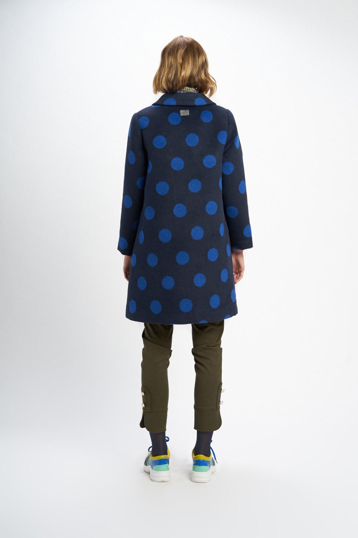 Poupée Chic | Abrigo lunares picas tweed bicolor Trasera