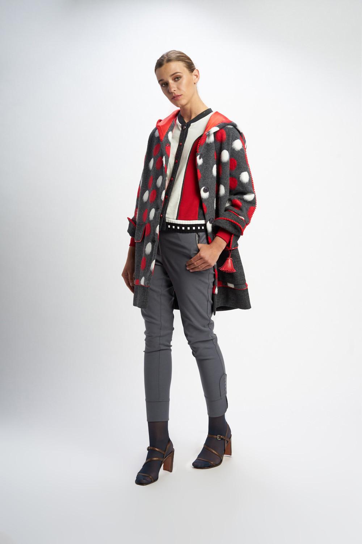 Poupée Chic | Abrigo black jack multicolor Frontal