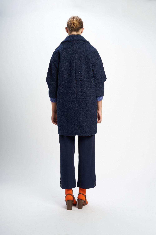 Poupée Chic | Abrigo winter chic azul Trasera